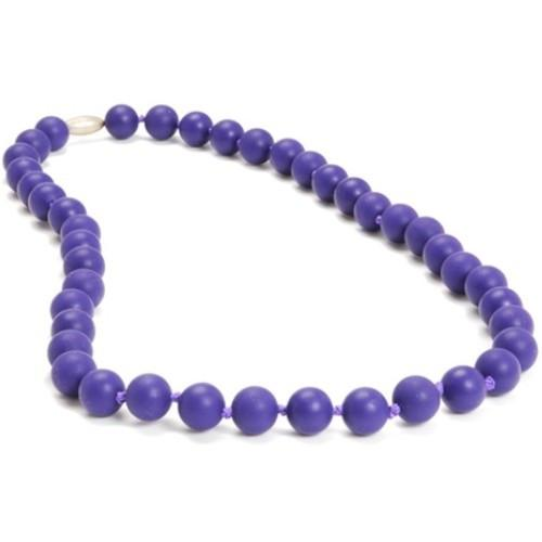 Chewbeads Jane Teething Necklace - Purple - CanaBee Baby
