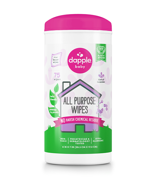 Dapple All Purpose Cleaning Wipes 75ct - Lavender (80030)