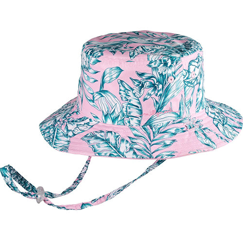 Millymook Girls Reversible Bucket Hat- Oasis Pink
