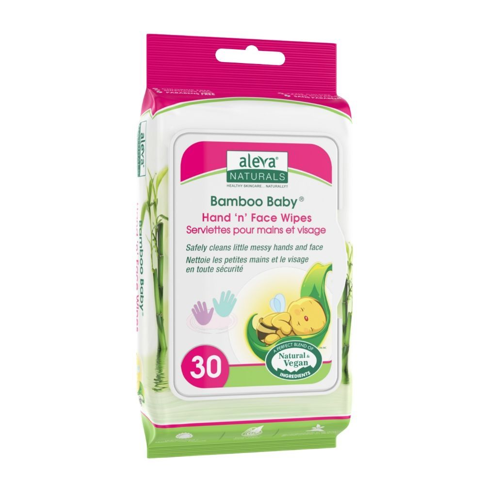 Aleva Naturals Bamboo Baby Hand 'n' Face Wipes 30ct