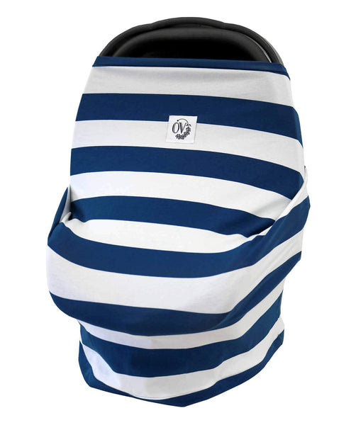 The Over.co Multi-use Baby Cover Hudson Stripe Over