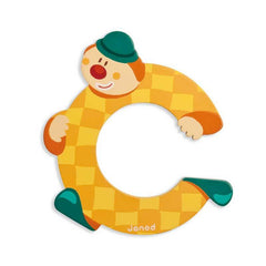Janod Clown Wood Letters - C - CanaBee Baby