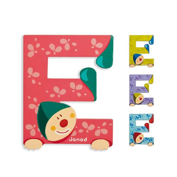 Janod Clown Wood Letters - E - CanaBee Baby