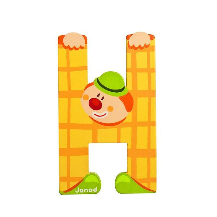 Janod Clown Wood Letters - H - CanaBee Baby