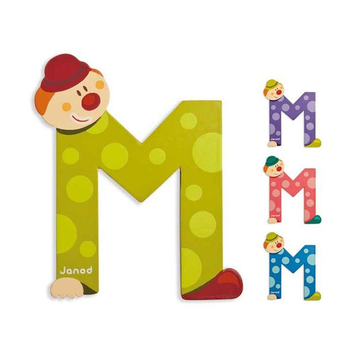 Janod Clown Wood Letters - M - CanaBee Baby