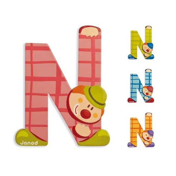Janod Clown Wood Letters - N - CanaBee Baby