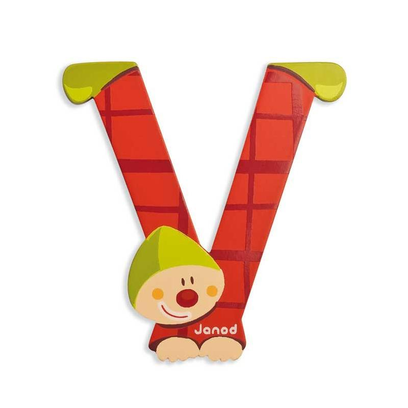 Janod Clown Wood Letters - V - CanaBee Baby