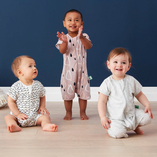 ErgoPouch Bamboo Short Sleeve Sleeper 0.2T -  Waves