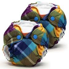 Kangacare Lil Joey Cloth Diapers 2 Packs - Preppy Plaid
