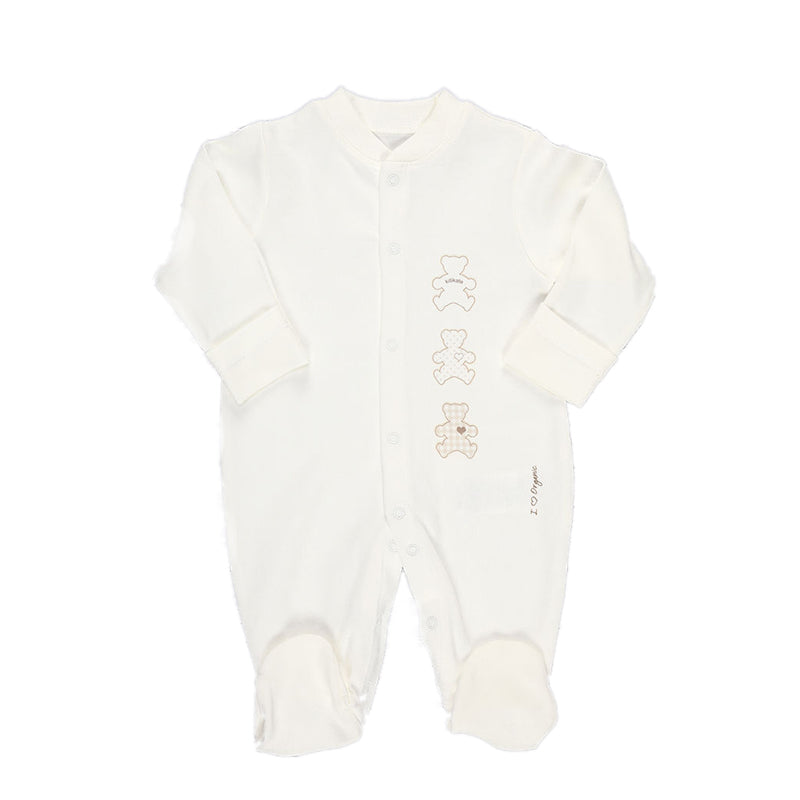 Kitikate Organic Romper Suit Cream - CanaBee Baby