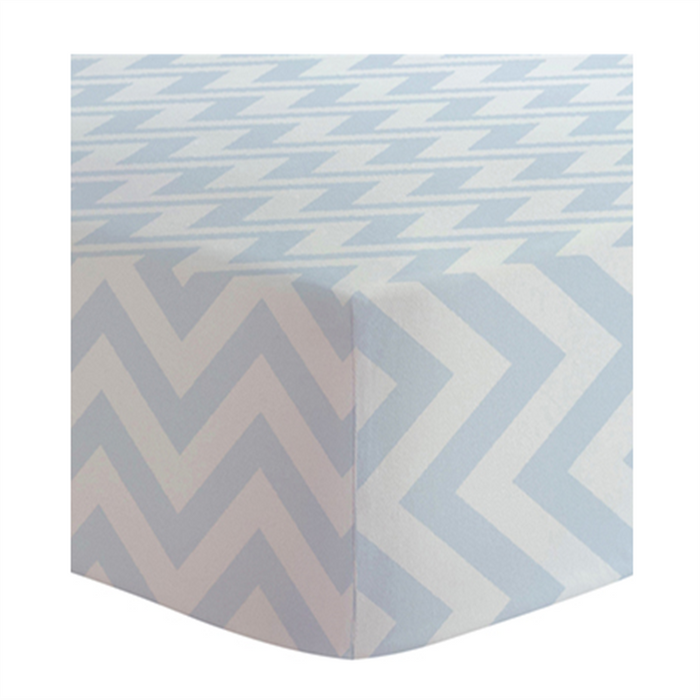 Kushies Change Pad Cover Blue Chevron - CanaBee Baby