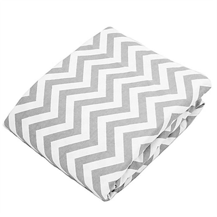 Kushies Change Pad Cover Grey Chevron - CanaBee Baby