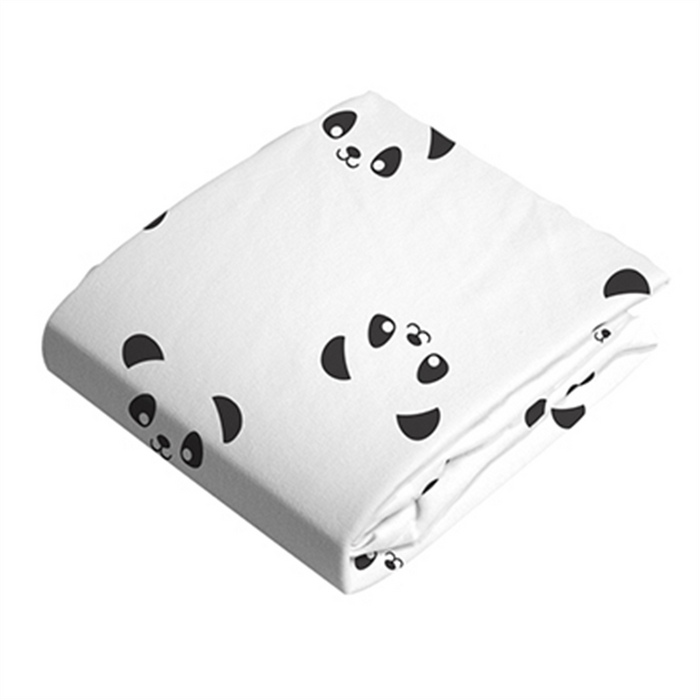 Kushies Change Pad Fitted Sheet Pandas - CanaBee Baby