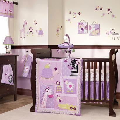 Lambs Ivy Garden Safari 5pc Crib Set - CanaBee Baby
