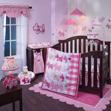 Lambs Ivy Puppy Tales 8pc Crib Bedding Set - CanaBee Baby