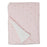 Living Textiles Jersey Blanket with Sherpa - Pink Metallic Hearts