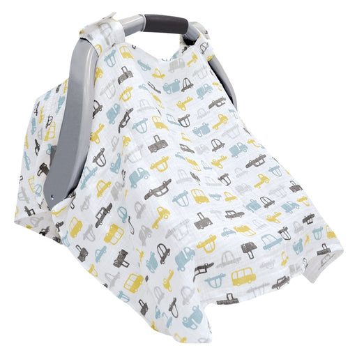 Perlim Pin Pin Cotton Muslin Car Seat Canopy - Cars MSCSH