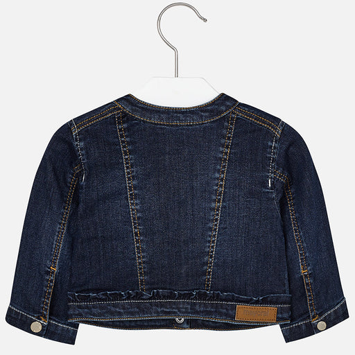 Mayoral Baby Embroidered Jean Jacket Dark dc06f7e10