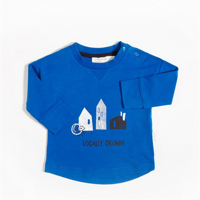 Miles Baby Long sleeve T-Shirt Knit Royal - CanaBee Baby