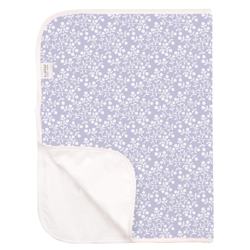kushies change pad p215-526 terry lilac berries