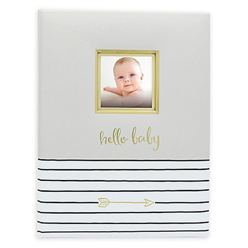 Pear Head BabyBooks Hello Baby Grey - CanaBee Baby
