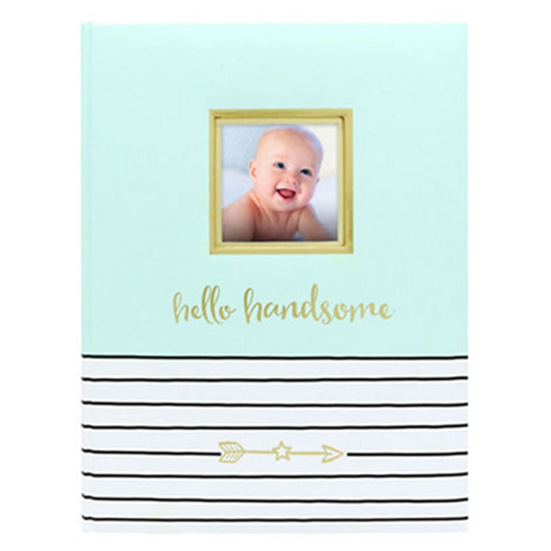 Pear Head BabyBooks Hello Handsome Mint - CanaBee Baby