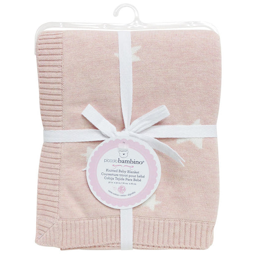 Piccolo bambino blanket knitted pink - CanaBee Baby