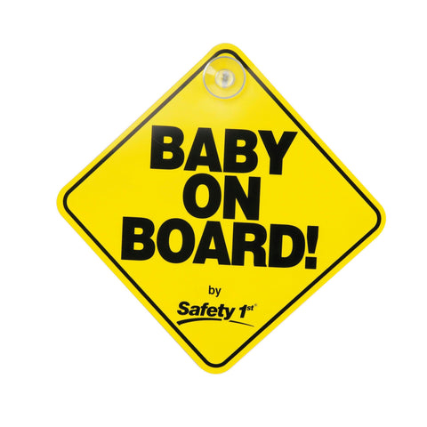 Safety 1st Baby On Board Plastic Sign - CanaBee Baby