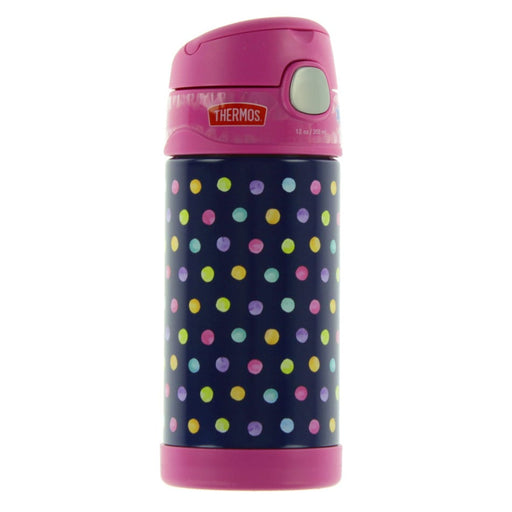 Thermos Funtainer Straw Bottle Dots