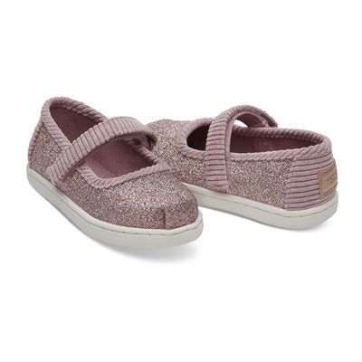 1004daec211 Toms ROSE GLOW GLIMMER TINY TOMS MARY JANE FLATS 10012565