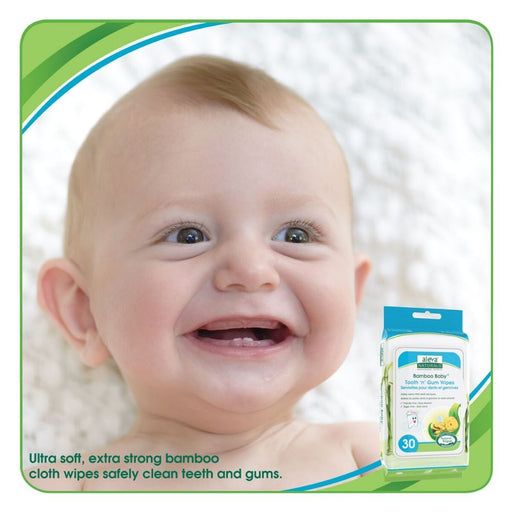 Aleva Bamboo Baby Tooth&gum Wipes 30ct