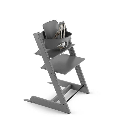 Stokke Tripp Trapp Highchair with Babyset & Harness Storm Grey