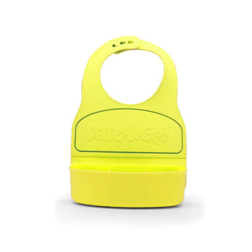 Dare U Go Waterproof Silicone Toddler Bib with Food Container - Yellow