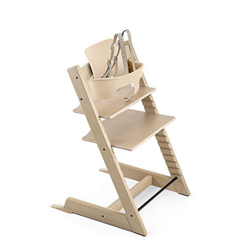 Stokke Tripp Trapp Highchair with Babyset & Harness Oak Natural