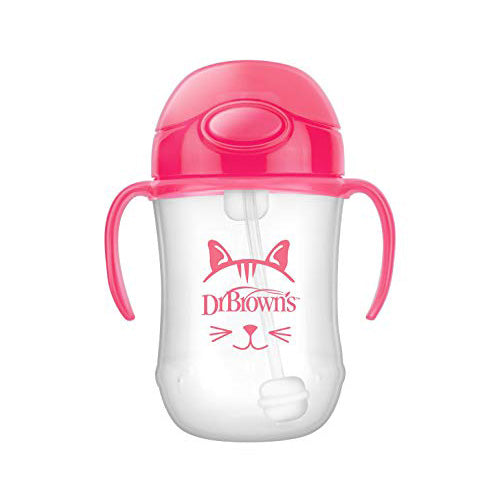 Dr Brown's Baby's First Straw Cup Pink 9oz