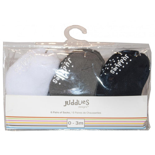 Juddlies Multi Pack Infant Socks Boys 6pk JL606