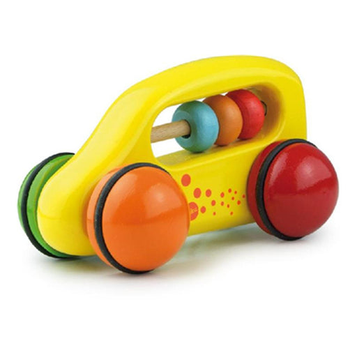 Vilac Vehicle Abacus Car Yellow - CanaBee Baby