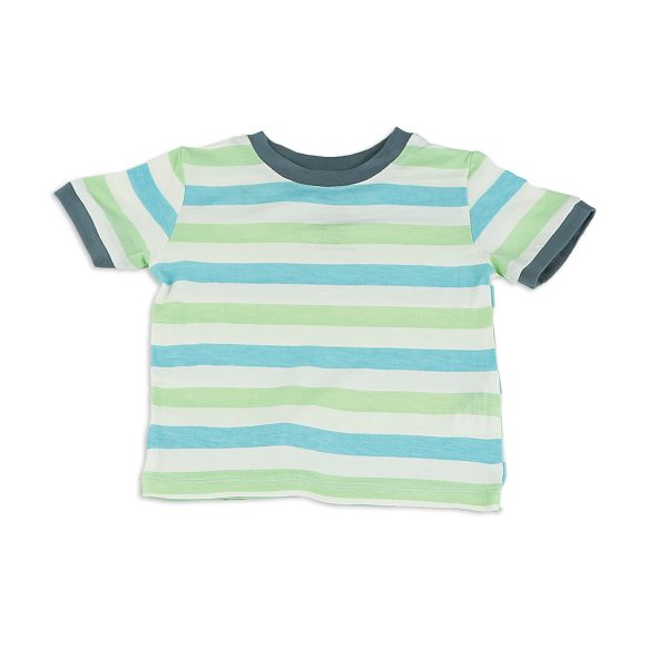 Silkberry Bamboo SS Tee Popsicle Stripe