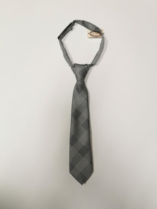 Liv& Lily Necktie Black/White Plaid