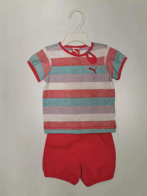 Puma Basic Girl Set Muti Stripe 9m