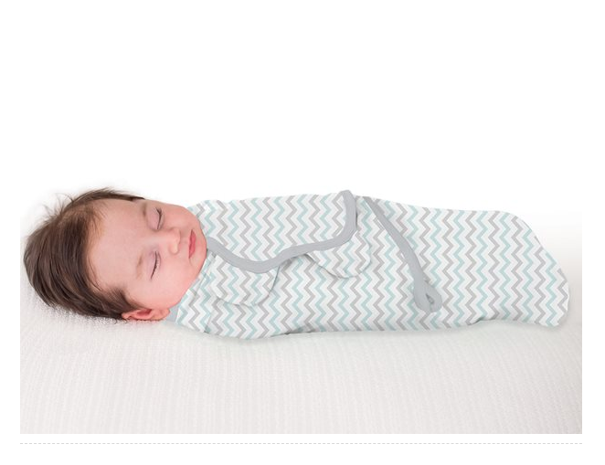 Summer Infant Swaddle Me Teal & Gray Chervon S