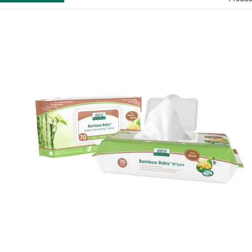 Aleva Bamboo Baby Ultra Thick Wipes 70pk