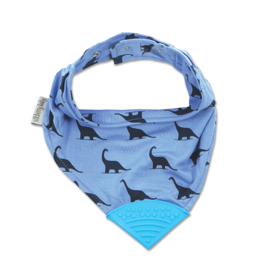 SilkBerry Bamboo Chewable Bib Dino