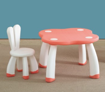 YAYA RABBIT TABLE & CHAIR (CORAL A)
