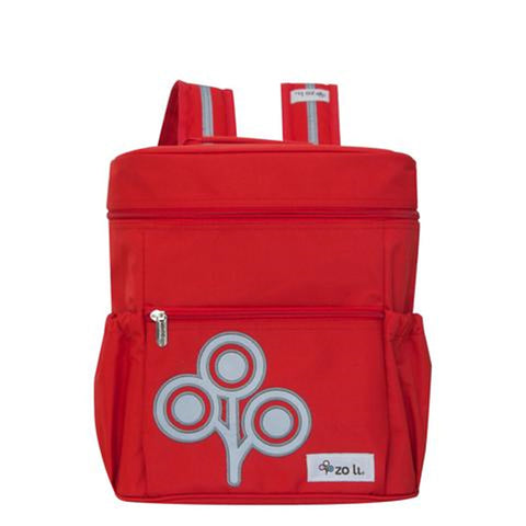 Zoli Mini Stash Bucket-Style Rucksack Red