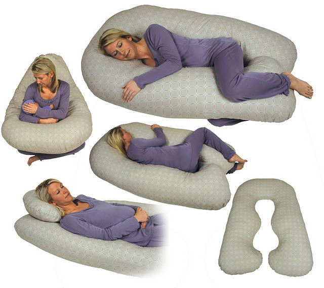 Leachco Back N Belly Contoured Body Pillow Brown Canabee Baby