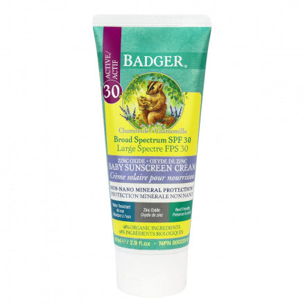 Badger SPF30 Baby Sunscreen Cream