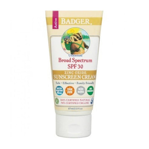 Badger Sunscreen Cream Unscented Sheer Tint SPF30 - CanaBee Baby