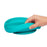 Bbluv Miäm Silicone Plate & Spoon Set - Aqua - CanaBee Baby