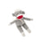 Beba Bean Sock Monkey Rattle Grey - CanaBee Baby